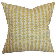 Duerr Geometric Cotton Throw Pillow Cover