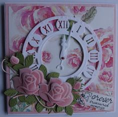 Suzanna: Challenge 168 bij MD Challenge Blog Marianne Design Cards, Die Cut Cards, Unique Cards, Free Paper, Flower Cards, Vintage Cards, Scrapbook Pages, Cardmaking, Birthday Cards