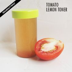 HOW TO MAKE TOMATO LEMON TONER TO DEEP CLEAN PORES