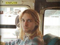 Kurt Cobain on a tour bus, 1989