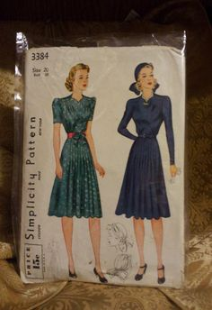 Simplicity Pattern 1940's. $19.99, via Etsy. (Would love to find this is a 34'' bust)