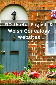 50 Useful English and Welsh Genealogy Websites | British Genealogy Research | Family History | Bespoke Genealogy #genealogy