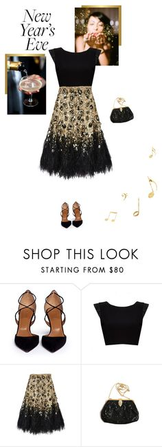 """New Years Eve at the Jazz club"" by class-in-the-corner-office ❤ liked on Polyvore featuring Aquazzura, Alice + Olivia, Matthew Williamson and Whiting & Davis"