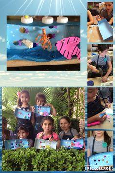 # manualidad infantil # reciclando #caja marítima tridimensional