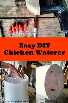 The Bestest and Cheapest Chicken Waterer {DIY} | Whistle Pig Hollow