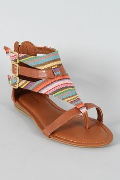 Tribal gladiator sandals