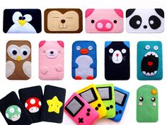 iPod cases -- these are adorable. I bet I could easily make any of them, for about $1 in materials. (Now would I *sell* them for  a dollar? Nope.)