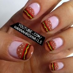 Hamburger Nail Art