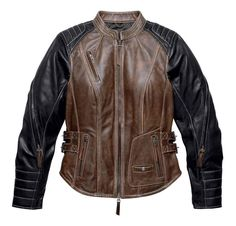 Free shipping - Harley-Davidson Women's Distressed Capitol Leather Jacket, Brown 98105-16VW - Womens/Jackets & Vests/Leather Jackets - Collections/NEW for 2016