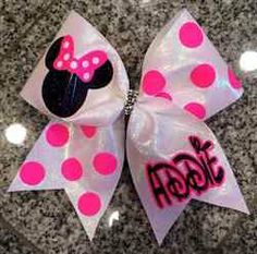 Minnie Mouse Cheer Bow February 2017