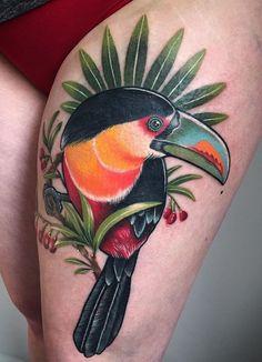 Jessica Mach toucan bird tattoo