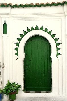 Tangier, Morocco- inspiration for a front door color Moroccan + Green (favorite design & color) = HEAVEN!!!!!