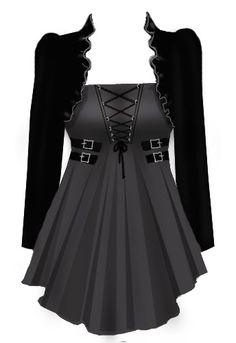 BlueBerryHillFashions: Gothic Corset Laced Top - Plus Size Fashions