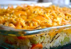 Cheesy Chicken & Wild Rice Casserole