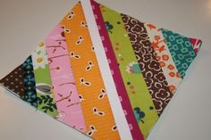 Nice technique for making quilt blocks out og stripes of different prints and colors.