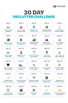 declutter challenge- sadly some of these single day activities would each. declutter challenge- sadly some of these single day activities would each take me 30 days to House Cleaning Tips, Spring Cleaning, Cleaning Hacks, Cleaning Challenge, Deep Cleaning Lists, Daily Cleaning, Cleaning Checklist, Diy Hacks, Old Apps