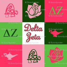 Delta Zeta! : http://www.spoonflower.com/fabric/814606