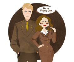 Do as Peggy says Steve x Peggy fanart by soothsayerstale