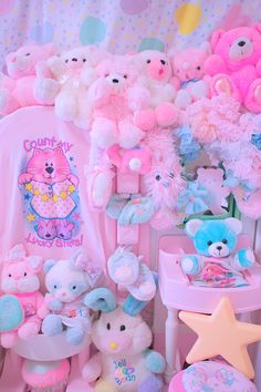Kawaii so CUTE #plushbears #kawaii #pink #diyroom