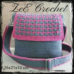 Free Crochet Bag, Crochet Tote, Crochet Handbags, Crochet Purses, Knit Crochet, Mochila Crochet, Knitting Patterns, Crochet Patterns, Crochet Backpack