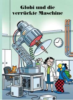 Globi und die verrückte Maschine Professor, Bart Simpson, Comic Books, Comics, Cover, Fictional Characters, Children Books, Products, Adult Children