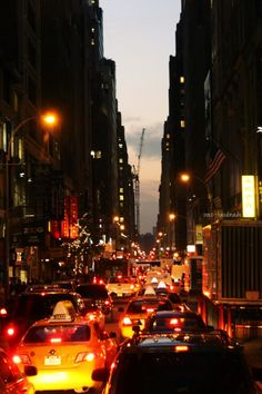 big city lights, NYC