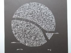 Paris olympic city abstract map drawing by AbstractCartography, $120.00