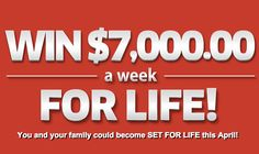 Win $7,000 cash a week for life on PCH Sweepstakes (No. 6900)