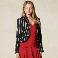 Sandrine Striped Linen Jacket (rugby.com)