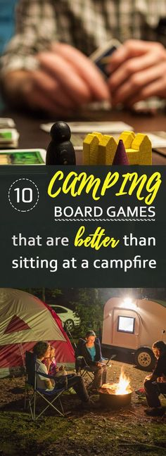 Has the fire ban blues got you down? Here's camping board games to play that are BETTER than sitting around a campfire. 10 of my favorite board and card games that are resilient enough to take to the campsite and portable so they don't take much room. Classic Board Games, Fun Board Games, Games To Play, Fun Games, Camping Activities, Camping Hacks, Camping Ideas, Camping Trailers, Group Activities