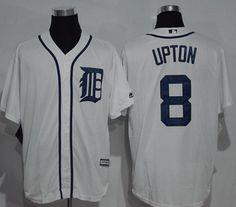 9ff2b35e1 Tigers #8 Justin Upton White New Cool Base Stitched MLB Jersey Cycling  Clothing, Cycling