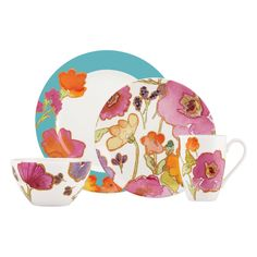 (COMPARE ELSEWHERE AT $315) LENOX Floral Fusion Aqua 20-Pc Dinnerware Set $275 PICK UP OR SHIPS FREE agnellinos.com