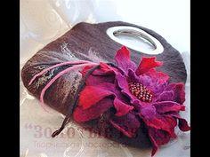 Идеи сумок своими руками - сумки из шерсти необычной красоты, сумки из войлока - YouTube