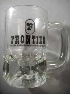 Frontier Hotel Las Vegas Clear Glass Mug or by WishingWellsGlass, $20.00