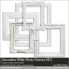 Decorative White Photo Frames Of maternity photos for baby room and shower