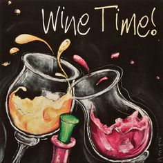 Festive Wine glass Art  -  Wine Time! __[Splosh Canvas via Loot.com.aus by Monique] Cheers! #swirl __#winetime
