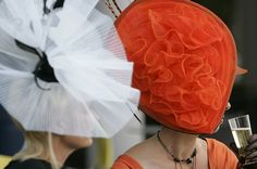 Lady in Red: Photo by Alistair Grant Red Hats, Women's Hats, Spring Racing Carnival, Royal Ascot Hats, Silly Hats, Wearing A Hat, Love Hat, Hats For Women, Lady In Red