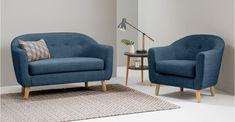 Lottie 2 Seat Sofa, Harbour Blue | MADE.com