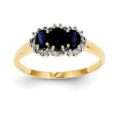 14k Diamond and Sapphire Ring Y11311S/AA