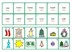 Combineeroefening : Kerstmis. Verbind de woorden met de tekeningen.