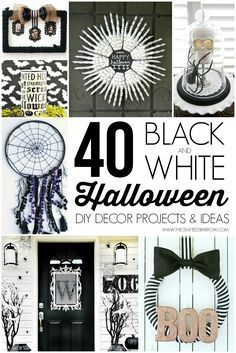 40 black white halloween decor projects - Black And White Halloween Party