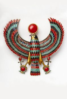 Ancient Egyptian pendant -the color palate is fantastic, I want to use it.