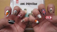 All my One Direction nails in one pic