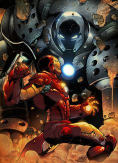Iron Man vs Iron Monger by Ander Zarate