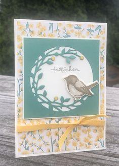 Cricut Cards, Stampin Up Cards, Bird Theme, Bird On Branch, Stampin Up Catalog, Friendship Cards, Bird Cards, Animal Cards, Handmade Birthday Cards
