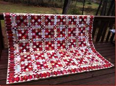 Bonnie Hunter block Talkin' Turkey with sashing and string border.  Book with pattern out in July 2012.