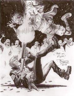 Art by Tony Moore #comics #art