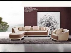 Modern Camel Bonded Leather Left Chaise Sectional Sofa and Chair Large Home Office Furniture, Office Furniture Stores, Outdoor Furniture, Outdoor Decor, Sectional Sofa, Couch, Sofas, Modern Sofa, Quality Furniture