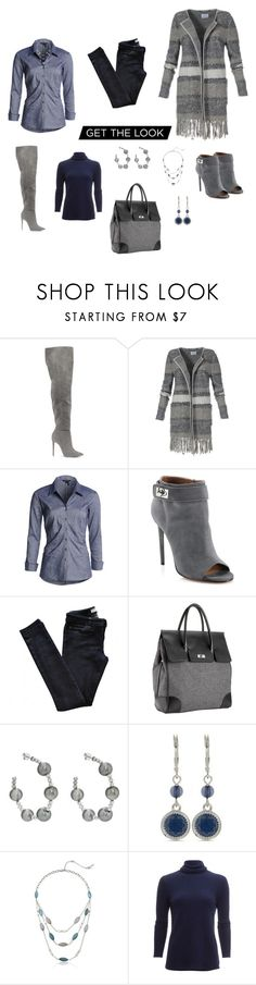 """""""Vintage-inspired, ultra-casual Long Jacket"""" by cheryl-williams-286 ❤ liked on Polyvore featuring NIC+ZOE, Givenchy, Vanessa Bruno Athé, Mark/Giusti, Samira 13, Nine West, Kenneth Cole, White + Warren and vintage"""