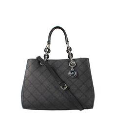 Michael Kors Cynthia Medium Satch Black 30F5SCYT2T Tassen handtassen online kopen